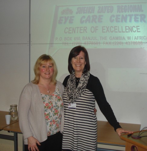 Sue Williams and Suzanne Martin at the Health Links meeting