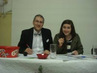 Quiz Master Andy Martin with his daughter Ffion